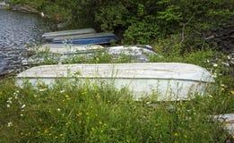 Vieux bateaux à rames Image libre de droits