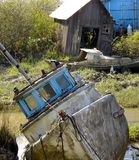 Vieux bateaux abandonnés Photos libres de droits