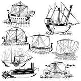 Vieux bateaux de navigation Photo libre de droits