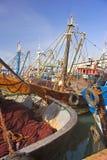 Vieux bateaux de pêche Images libres de droits