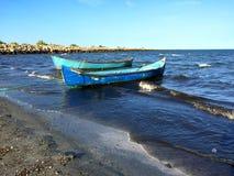 Vieux bateaux de pêcheur image libre de droits