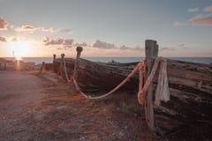Vieux bateaux de thon images libres de droits