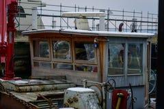 Vieux bateaux fonctionnants chez le Lac de Constance images libres de droits