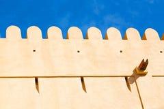 Vieux battlesment défensif de fort Photo libre de droits