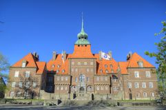 Vieux beau bâtiment en Suède Photographie stock