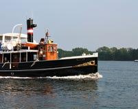 Vieux beau bateau de vapeur Image stock