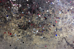 Vieux bidons de peinture photographie stock libre de droits