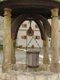 Vieux bien dans le château Harburg Photos stock
