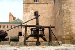 Vieux bien dans Oudaia Kasbah Images stock