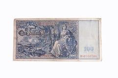 Vieux billet de banque allemand Photo stock