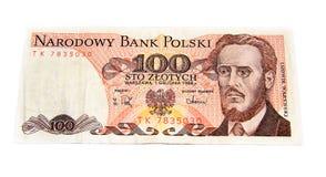 Vieux billet de banque polonais Photos stock