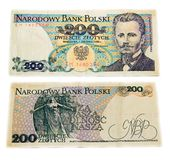 Vieux billet de banque polonais Images stock