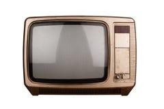 vieux blanc d'isolement de TV Photographie stock
