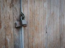 Vieux blocage de clé de fer Photos stock