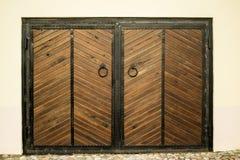 Vieux blocage de trappe Photo stock