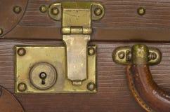 Vieux blocage de valise Images stock