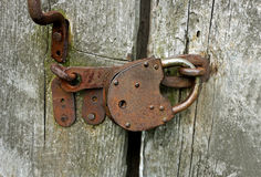 Vieux blocage rouillé Image stock