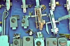 Vieux blocages de trappe Photographie stock libre de droits