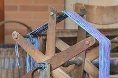 Vieux bobinier de laine images stock