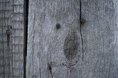 Vieux bois avec le fond rouillé de texture de clous Photo stock