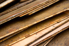 Vieux bois de charpente image libre de droits