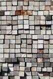 Vieux bois de charpente empilé Photographie stock
