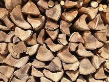 Vieux bois de chauffage Image libre de droits