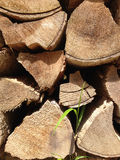 Vieux bois de chauffage Photo libre de droits