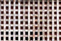 Vieux bois de croisement avec des clous pour la texture et le fond de vintage Photo stock