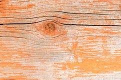 Vieux bois de fond peint avec la peinture rouge Photos libres de droits