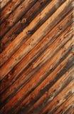 Vieux bois oblique Images libres de droits