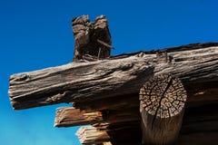 Vieux bois superficiel par les agents Photographie stock libre de droits