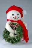 Vieux bonhomme de neige de Noël Photographie stock libre de droits