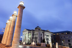 Vieux Boone County Courthouse en Colombie Image stock