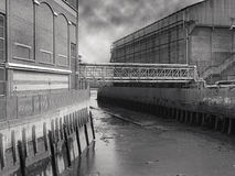 Vieux bord de mer de Londres   Photographie stock libre de droits