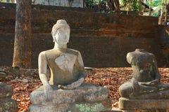 Vieux Bouddha thaïlandais Photographie stock libre de droits