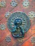 Vieux bouton de porte Image libre de droits