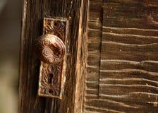 Vieux bouton de porte Images stock