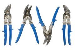Vieux bouts bleus de bidon Image libre de droits