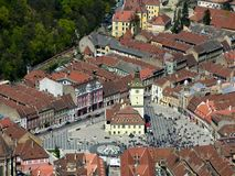 Vieux Brasov en Roumanie Photo stock