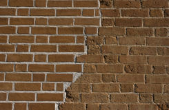 Vieux brickwall rénové images libres de droits