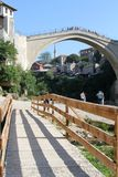 Vieux brigde - Mostar Photographie stock