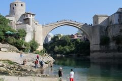 Vieux brigde - Mostar Image libre de droits