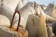 Vieux brise-lames Photographie stock libre de droits