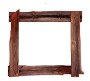 Vieux brun en bois de cadres de tableau Images stock