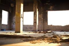Vieux bureau abandonné Photographie stock libre de droits