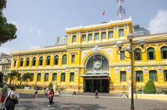 Vieux bureau de poste, Saigon, Vietnam Photographie stock libre de droits