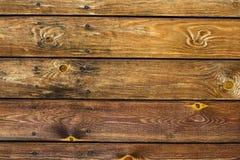 Vieux bureau en bois brun de texture Photographie stock