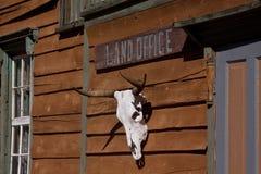 Vieux bureau foncier occidental Image libre de droits