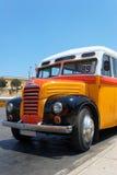 Vieux Bus maltais (1952) Images libres de droits
